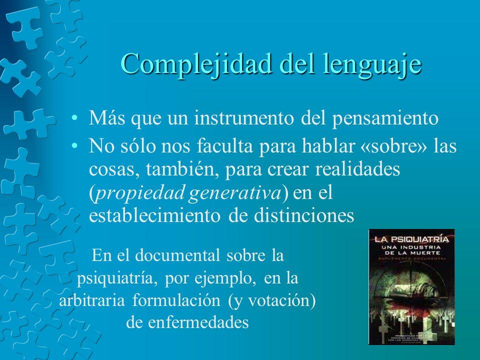 Complejidad del lenguaje