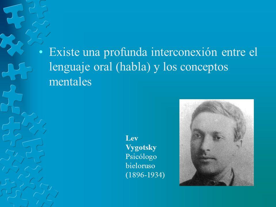Existe una profunda interconexión entre el lenguaje oral (habla) y los conceptos mentales