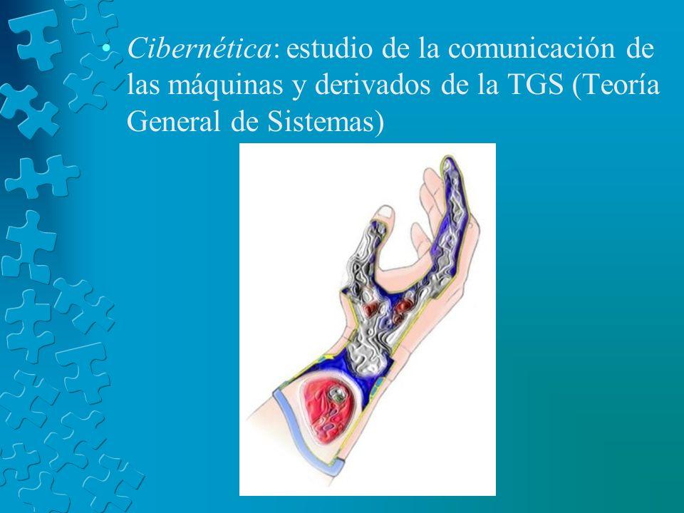 Cibernética: estudio de la comunicación de las máquinas y derivados de la TGS (Teoría General de Sistemas)