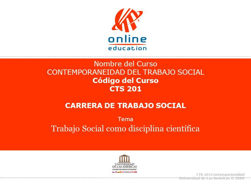 Tema Trabajo Social como disciplina científica