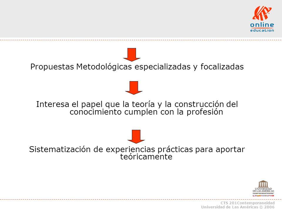 Propuestas Metodológicas especializadas y focalizadas