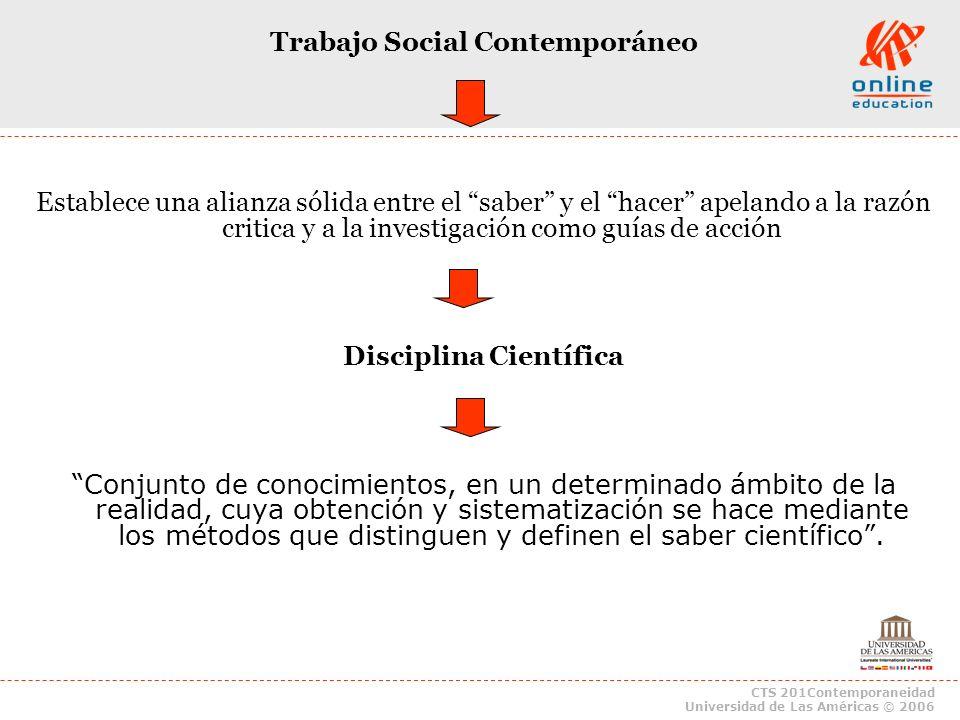 Trabajo Social Contemporáneo Disciplina Científica