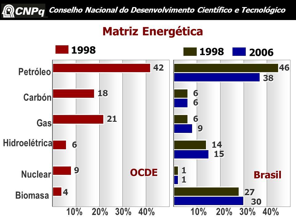 Matriz Energética 1998 1998 2006 Petróleo Carbón Gas Hidroelétrica