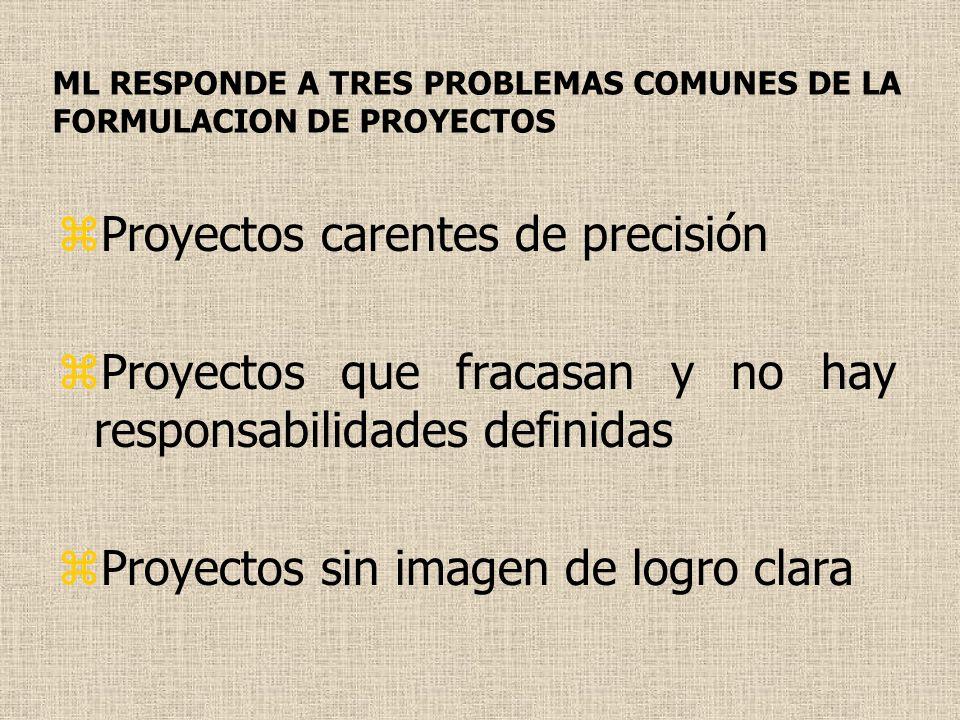 ML RESPONDE A TRES PROBLEMAS COMUNES DE LA FORMULACION DE PROYECTOS