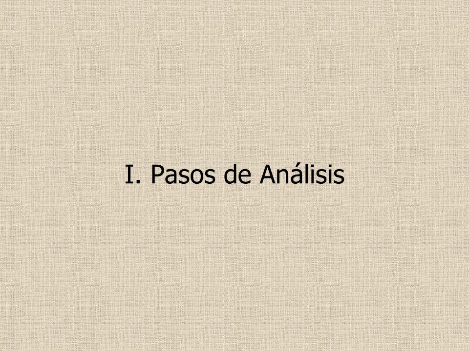 I. Pasos de Análisis