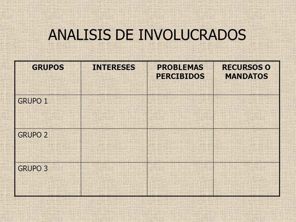 ANALISIS DE INVOLUCRADOS
