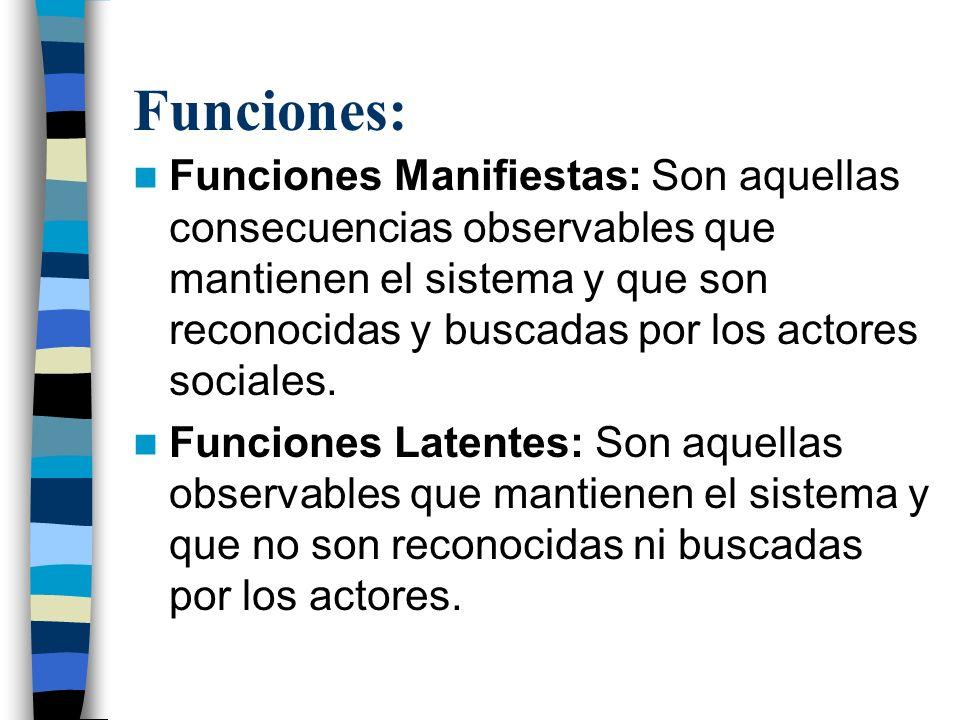 Funciones: