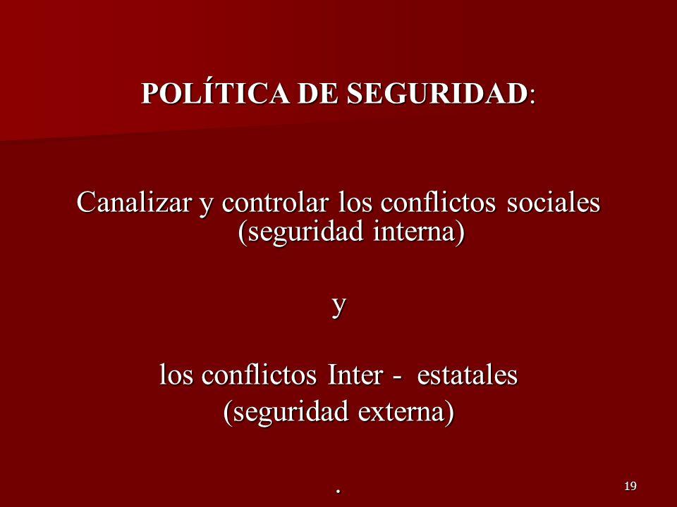 POLÍTICA DE SEGURIDAD: