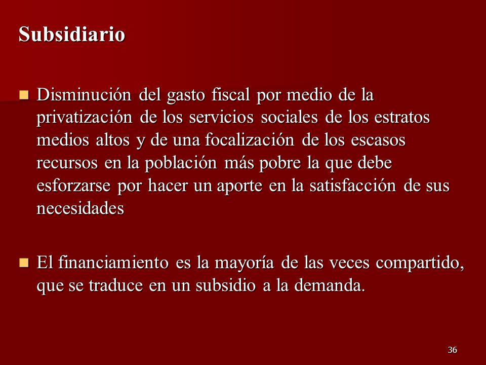 Subsidiario