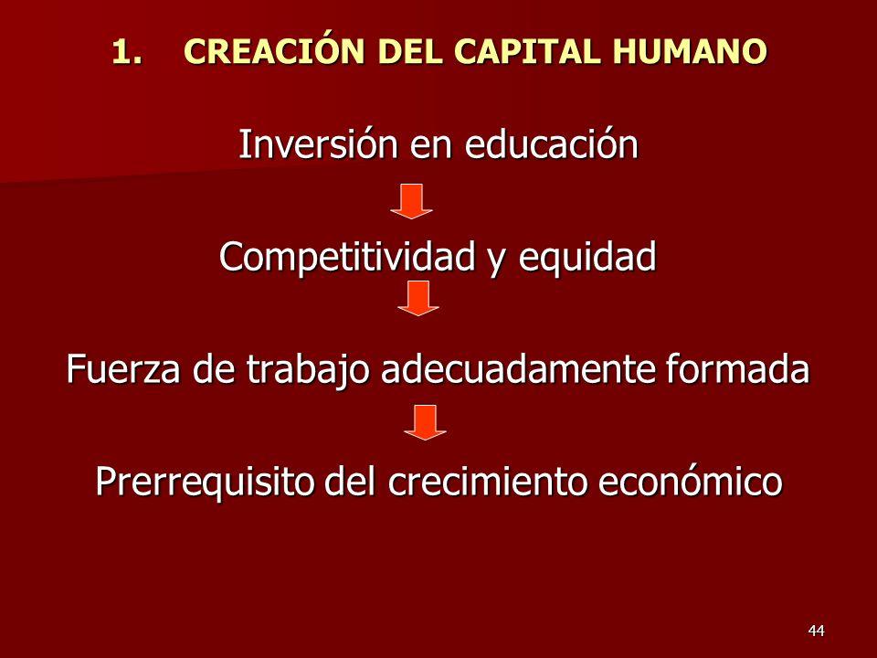 CREACIÓN DEL CAPITAL HUMANO