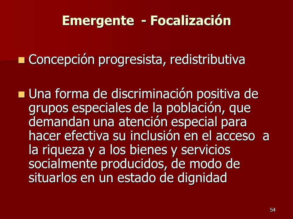 Emergente - Focalización