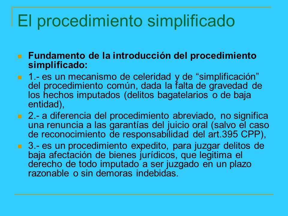 El procedimiento simplificado