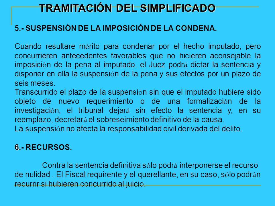 TRAMITACIÓN DEL SIMPLIFICADO