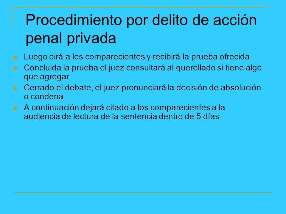 Procedimiento por delito de acción penal privada