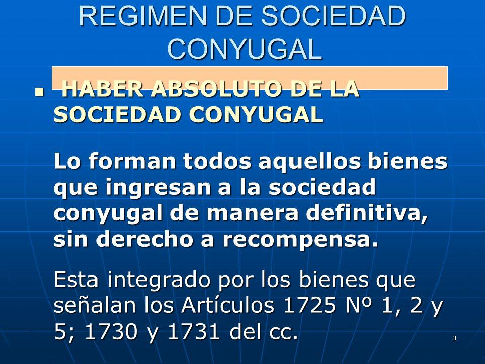 REGIMEN DE SOCIEDAD CONYUGAL