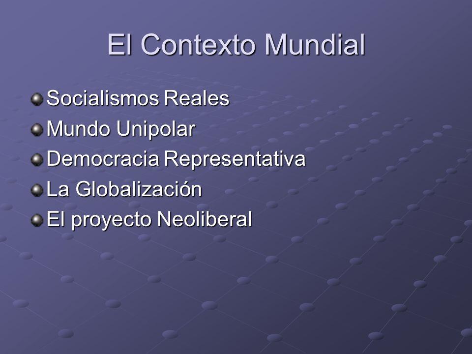 El Contexto Mundial Socialismos Reales Mundo Unipolar