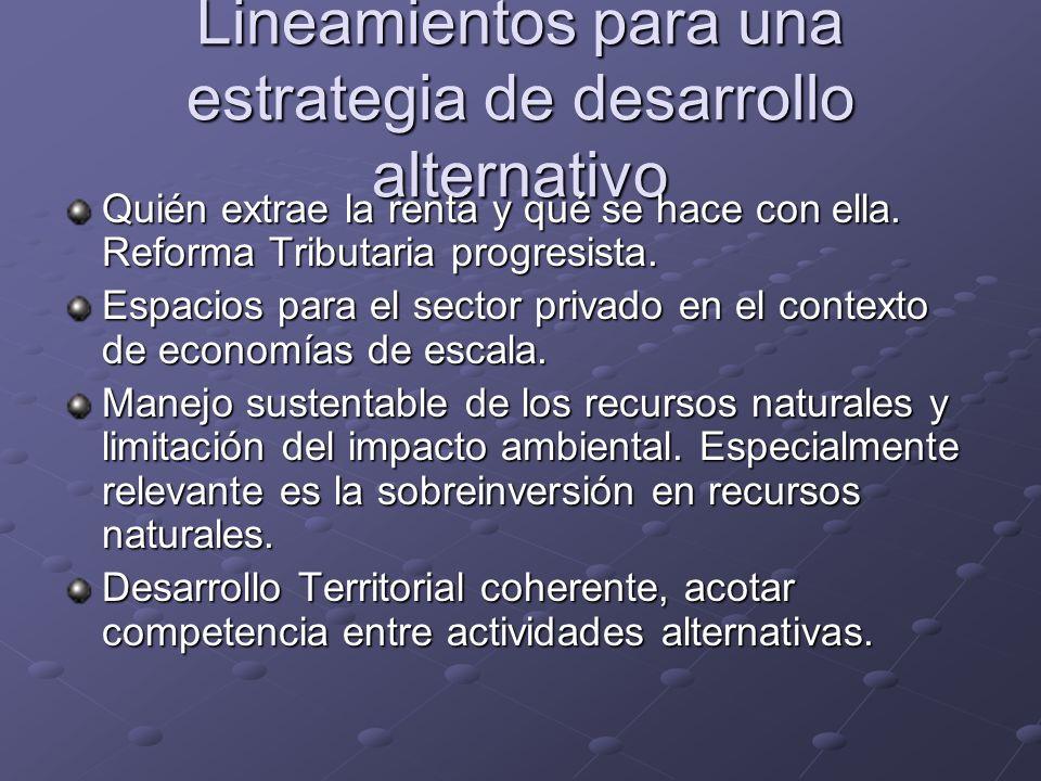 Lineamientos para una estrategia de desarrollo alternativo