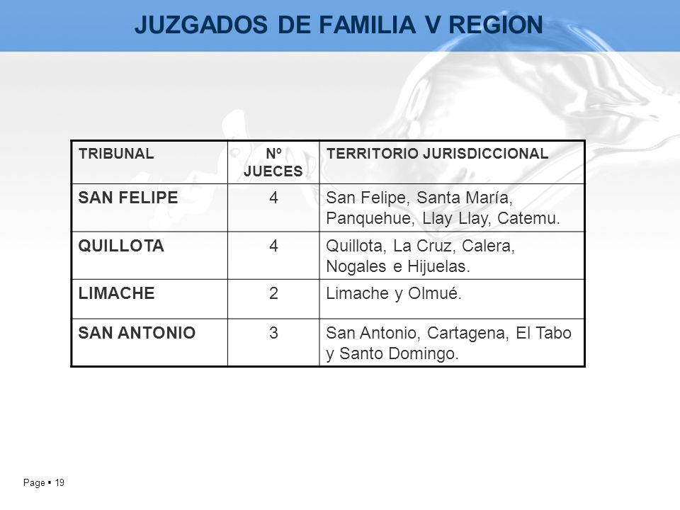 JUZGADOS DE FAMILIA V REGION