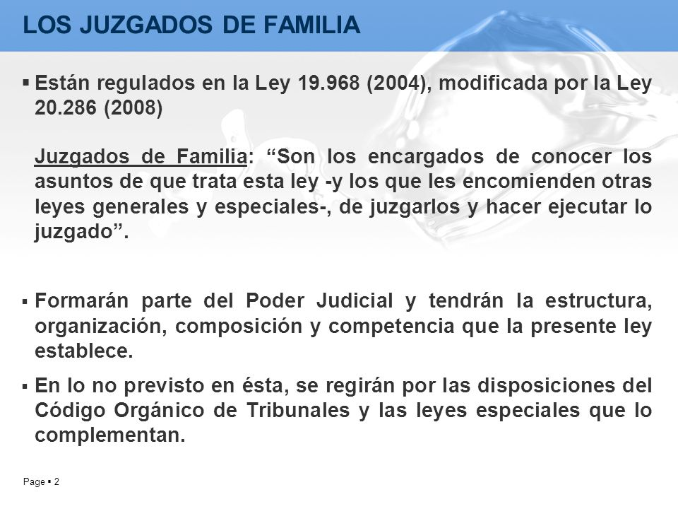 LOS JUZGADOS DE FAMILIA