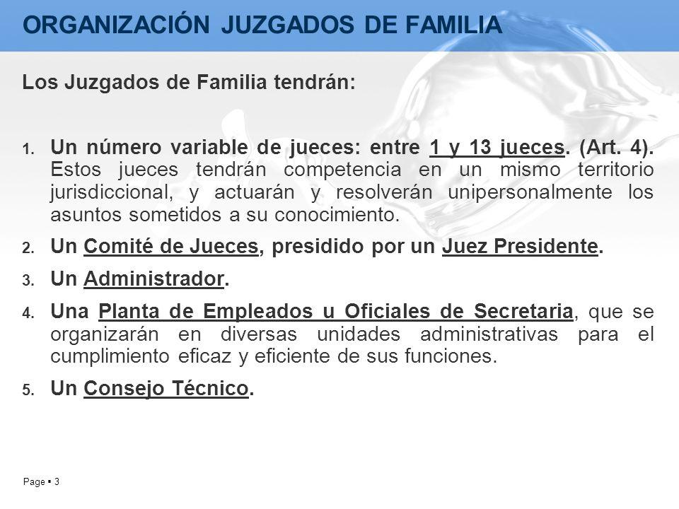 ORGANIZACIÓN JUZGADOS DE FAMILIA