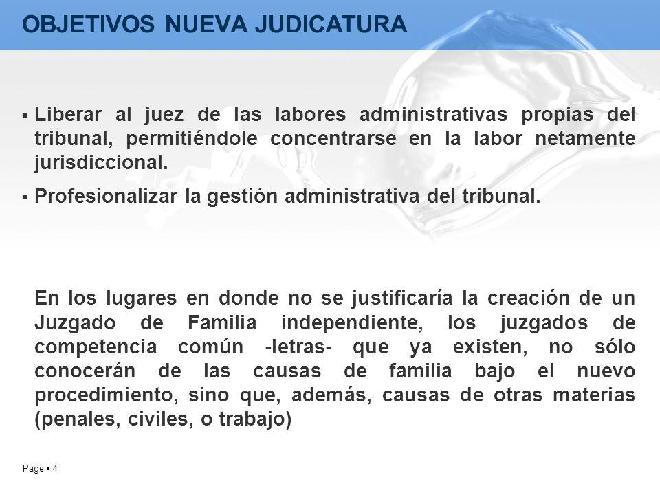OBJETIVOS NUEVA JUDICATURA