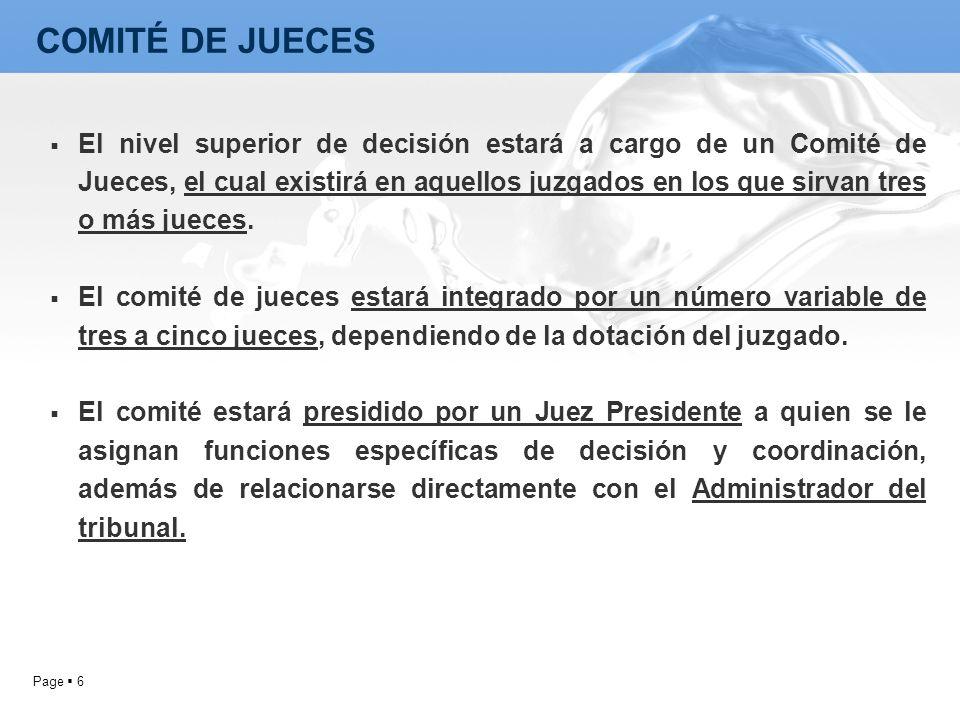 COMITÉ DE JUECES