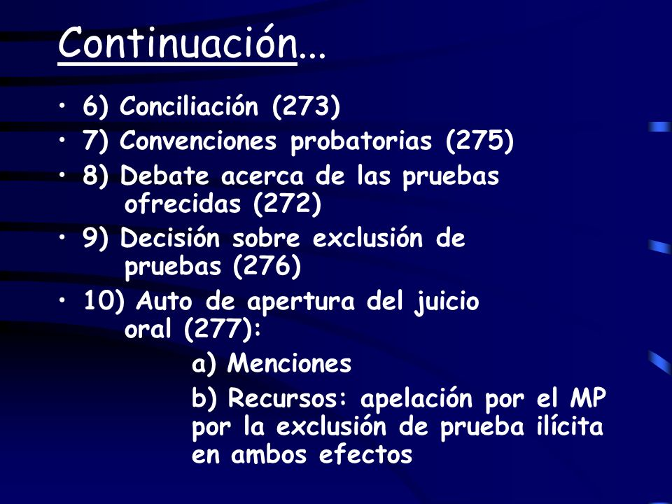 Continuación... 6) Conciliación (273)