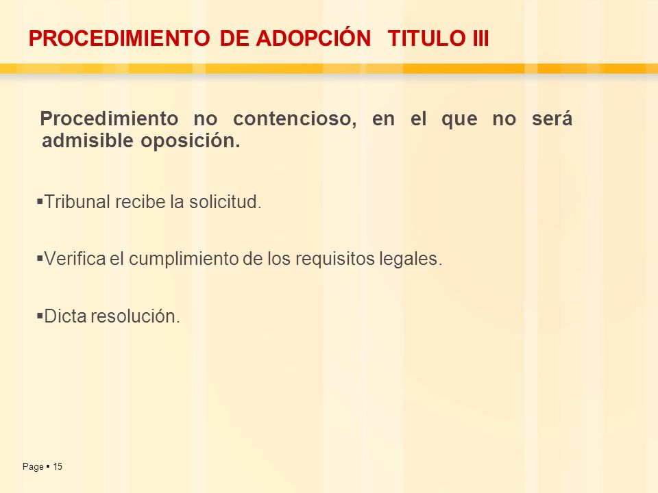 PROCEDIMIENTO DE ADOPCIÓN TITULO III