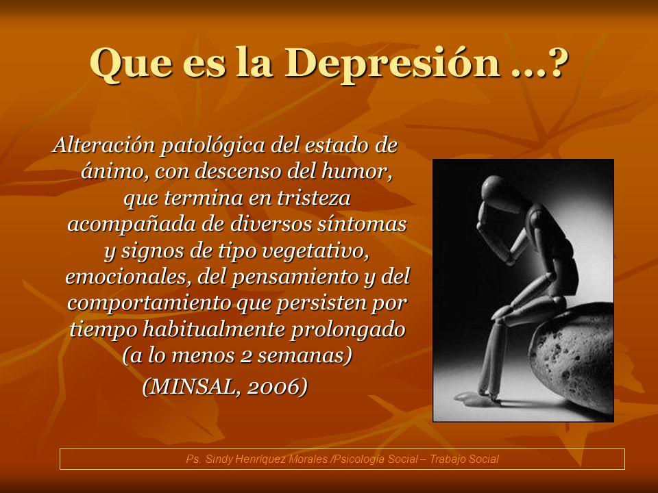 Ps. Sindy Henríquez Morales /Psicología Social – Trabajo Social
