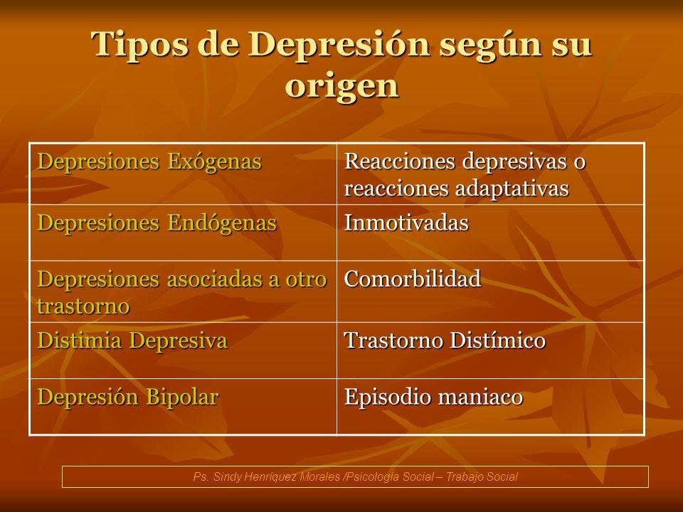 Tipos de Depresión según su origen