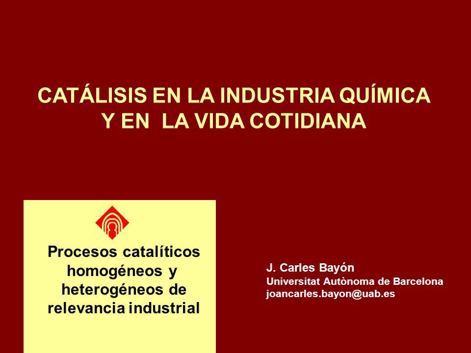 CATÁLISIS EN LA INDUSTRIA QUÍMICA relevancia industrial