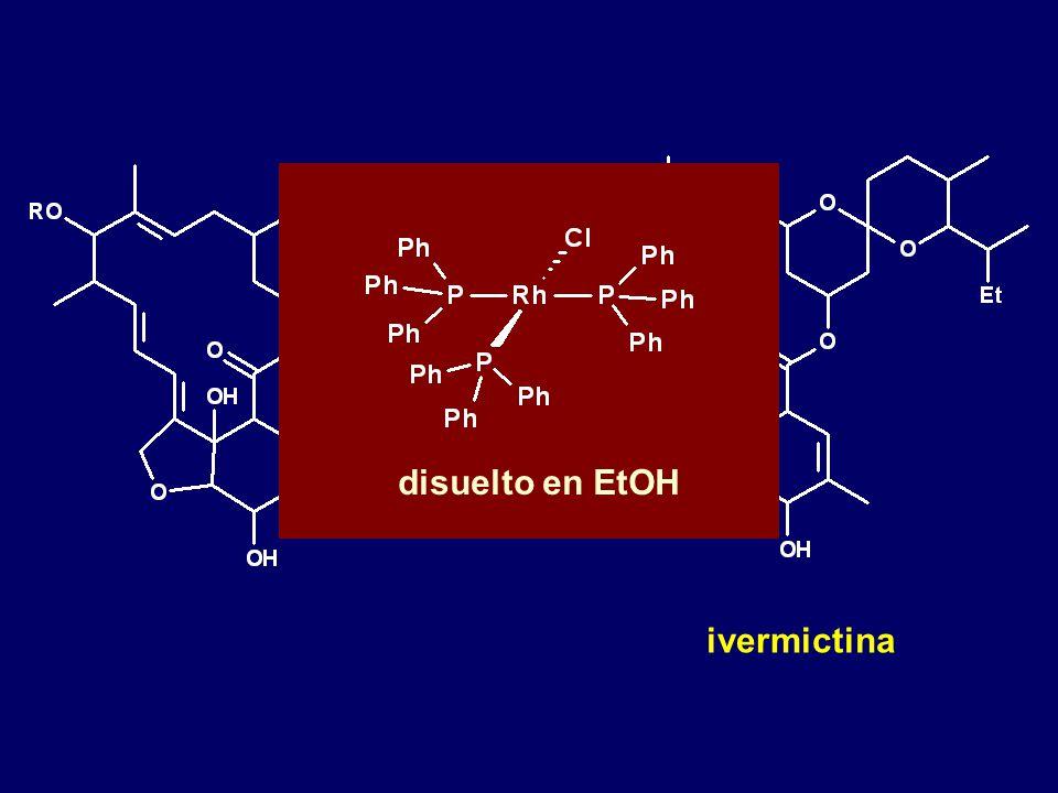 disuelto en EtOH ivermictina H2 RhCl(PPh3)3 disuelto en EtOH
