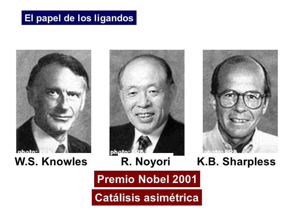 W.S. Knowles R. Noyori K.B. Sharpless Premio Nobel 2001