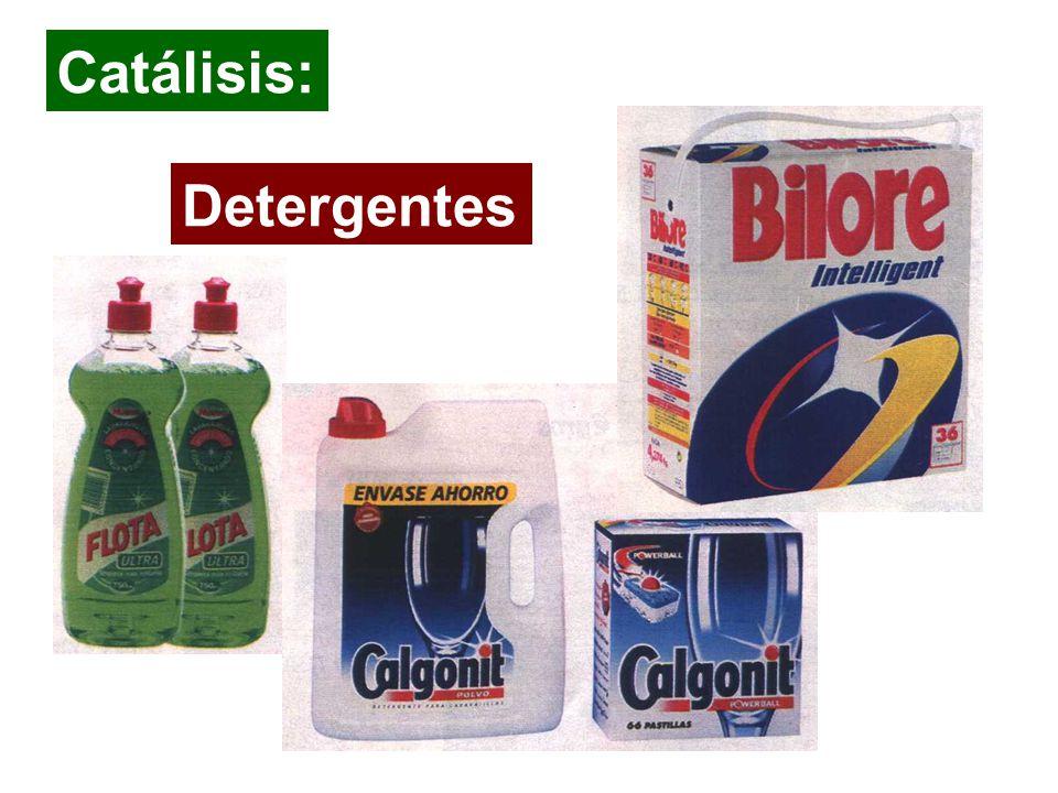 Catálisis: Detergentes Detergentes y cosmeticos : higiene y salud