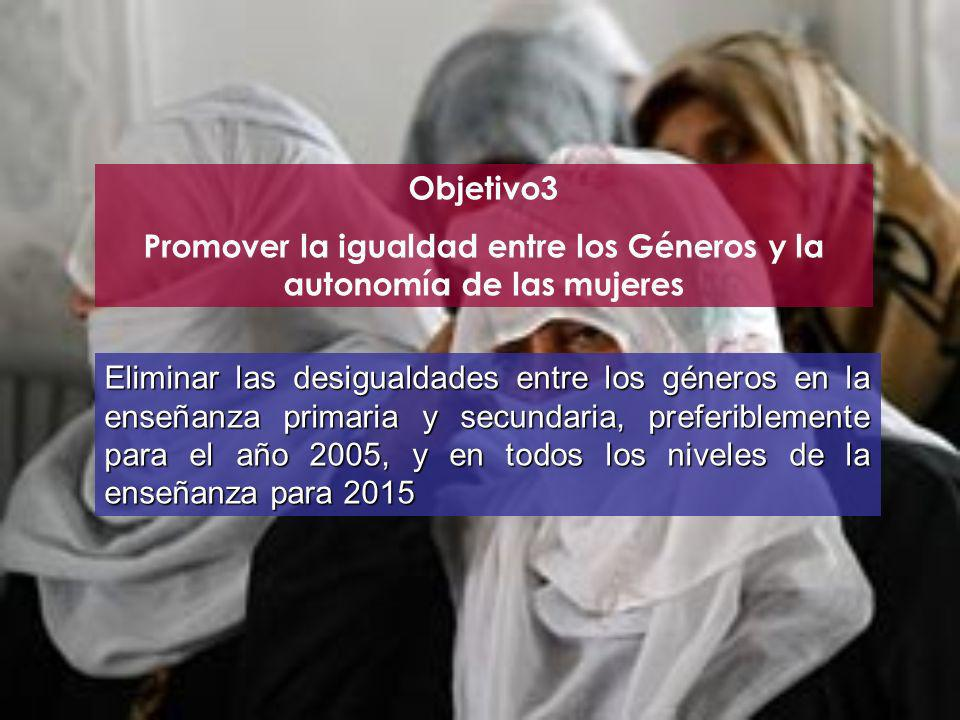 Promover la igualdad entre los Géneros y la autonomía de las mujeres