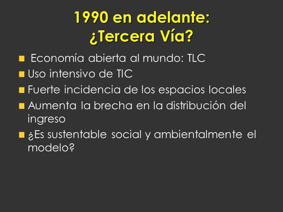 1990 en adelante: ¿Tercera Vía