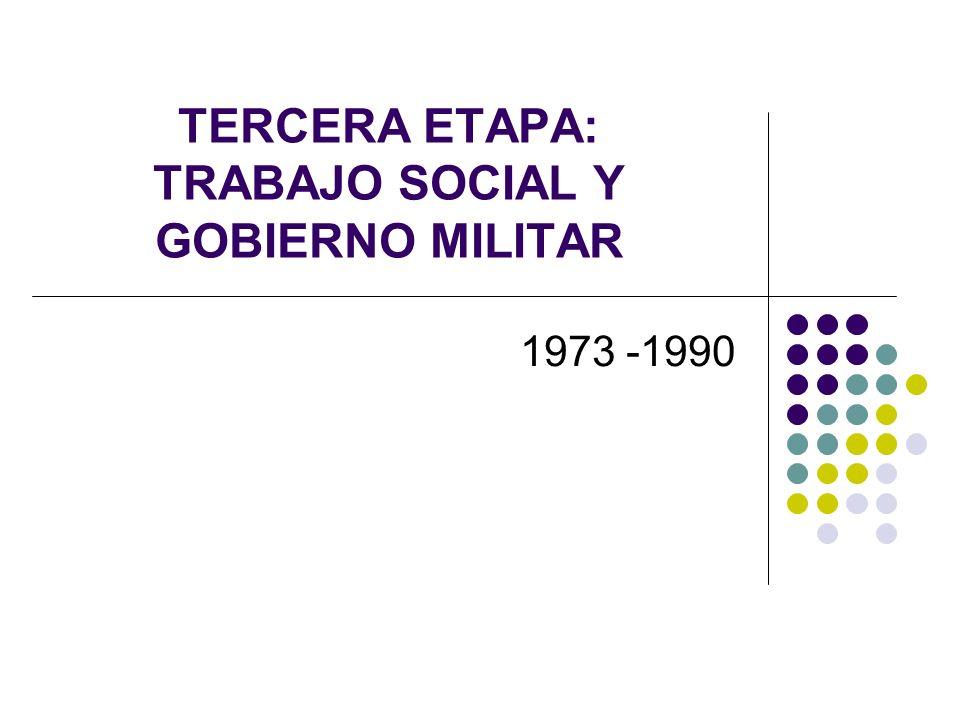 TERCERA ETAPA: TRABAJO SOCIAL Y GOBIERNO MILITAR