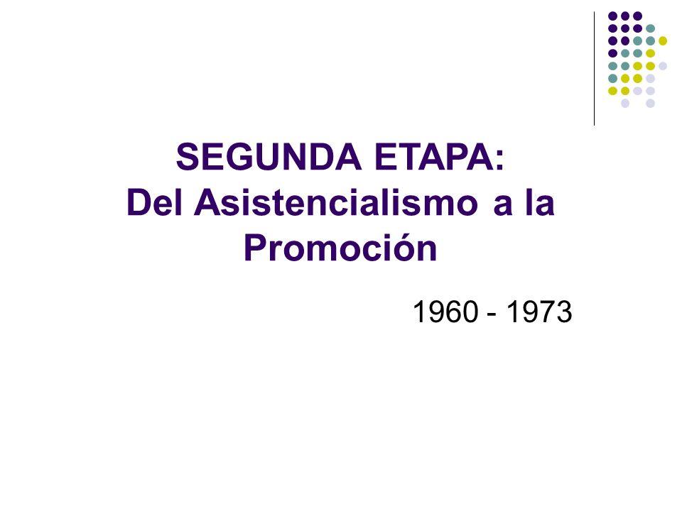 SEGUNDA ETAPA: Del Asistencialismo a la Promoción