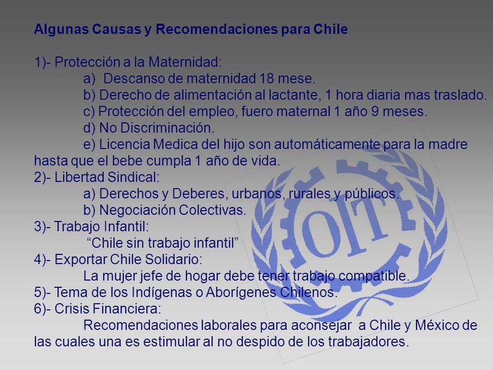 Algunas Causas y Recomendaciones para Chile
