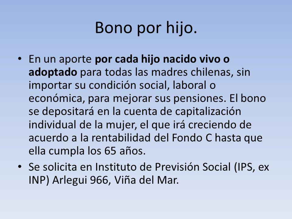 Bono por hijo.
