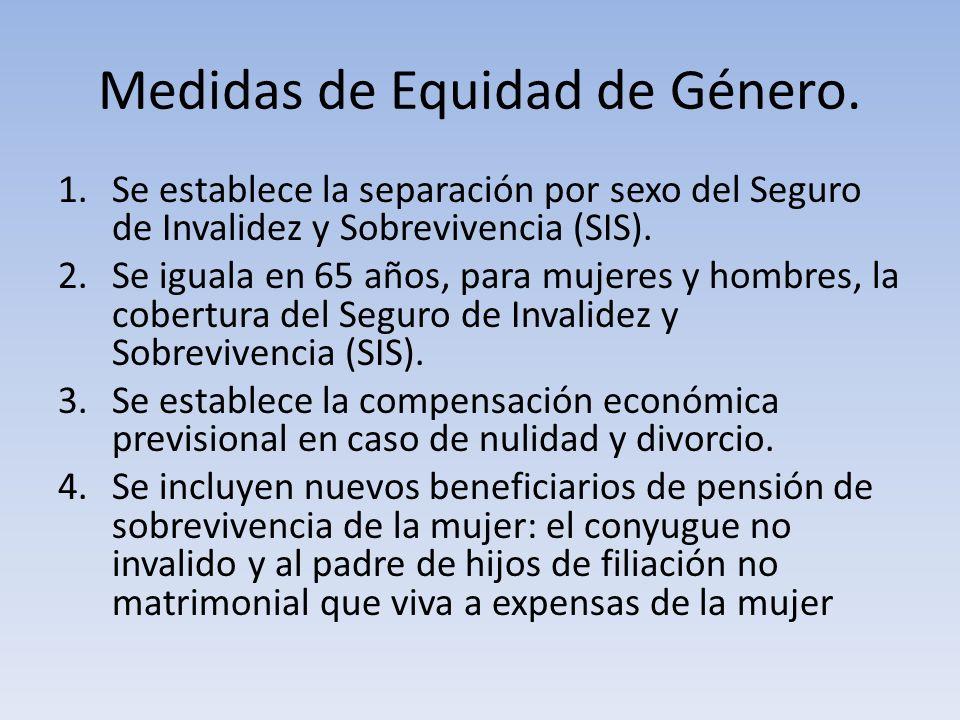Medidas de Equidad de Género.
