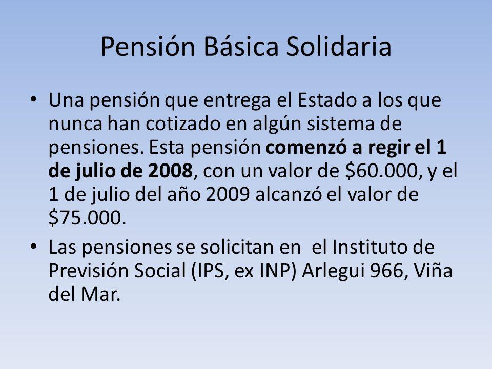 Pensión Básica Solidaria