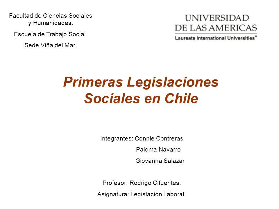 Primeras Legislaciones Sociales en Chile