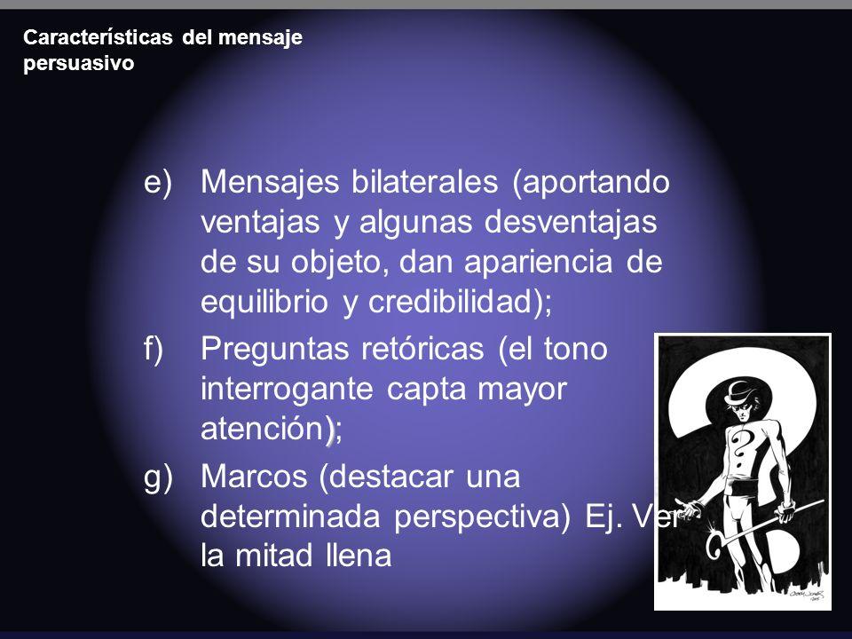 Características del mensaje persuasivo
