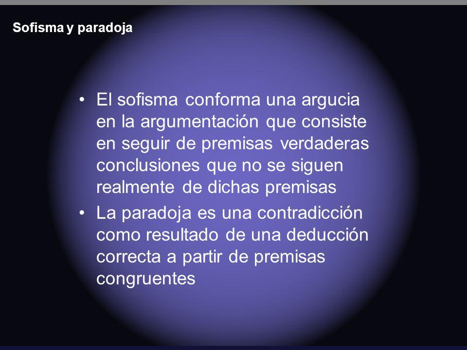 Sofisma y paradoja