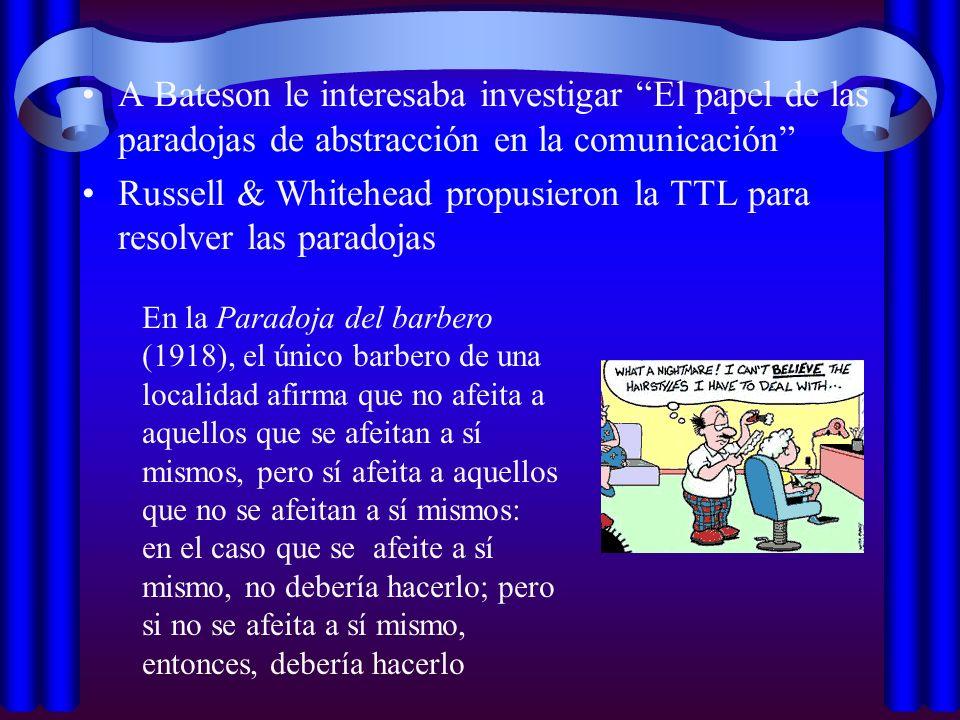 Russell & Whitehead propusieron la TTL para resolver las paradojas