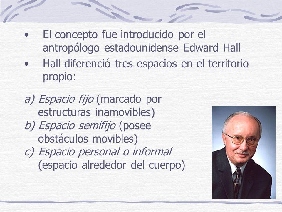 El concepto fue introducido por el antropólogo estadounidense Edward Hall