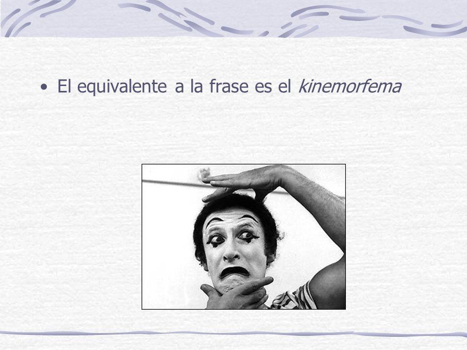 El equivalente a la frase es el kinemorfema
