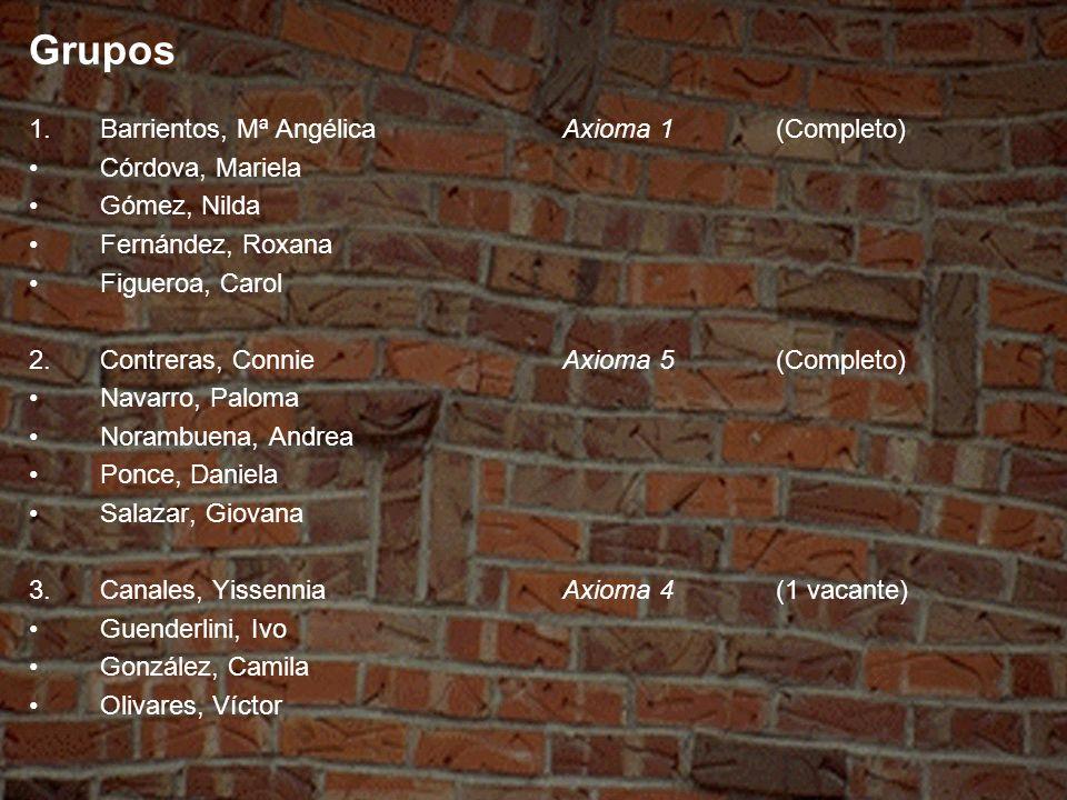 Grupos Barrientos, Mª Angélica Axioma 1 (Completo) Córdova, Mariela