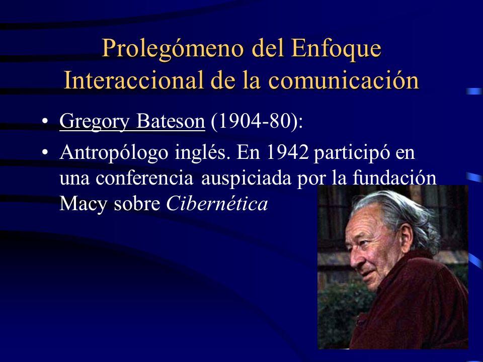 Prolegómeno del Enfoque Interaccional de la comunicación